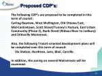 proposed cdp s