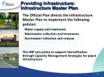 providing infrastructure infrastructure master plan