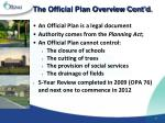 the official plan overview cont d