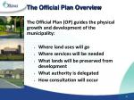 the official plan overview