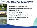 the official plan review opa 76