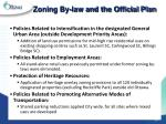 zoning by law and the official plan1