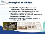 zoning by law in effect