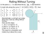 rolling without turning