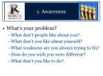 1 awareness