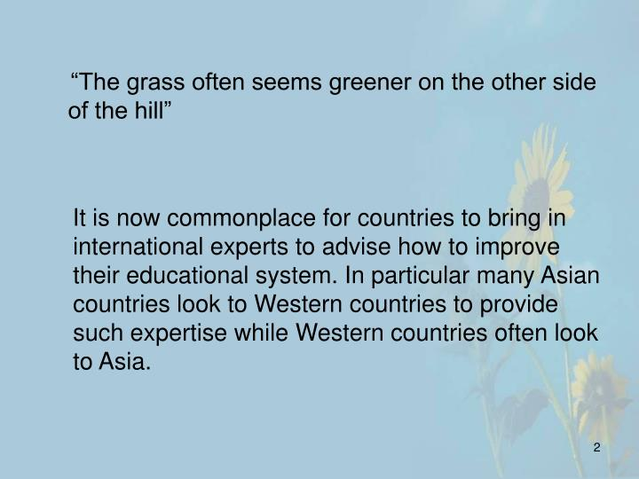 It is now commonplace for countries to bring in international experts to advise how to improve their...