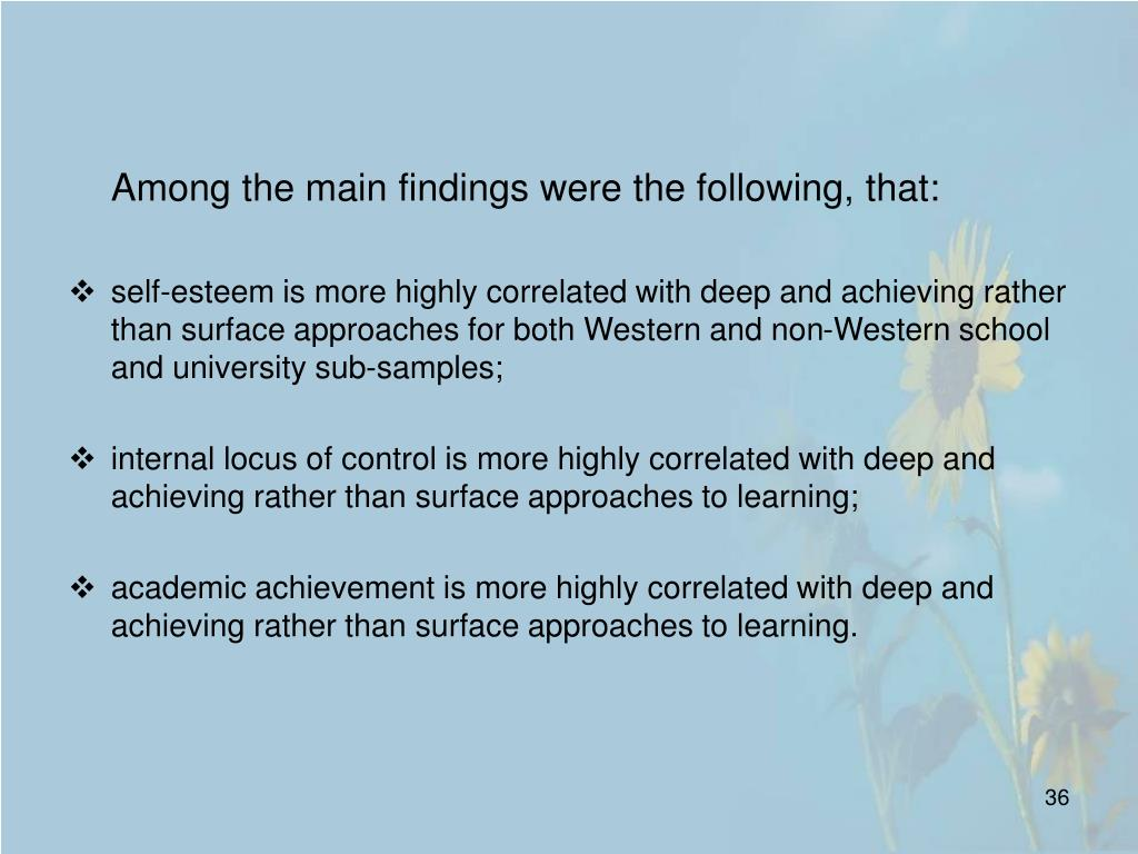 Among the main findings were the following, that: