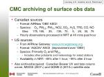 cmc archiving of surface obs data1