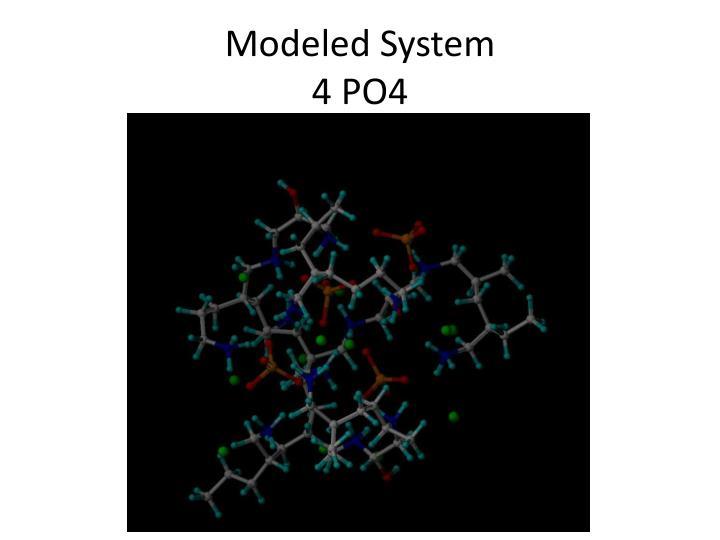Modeled System
