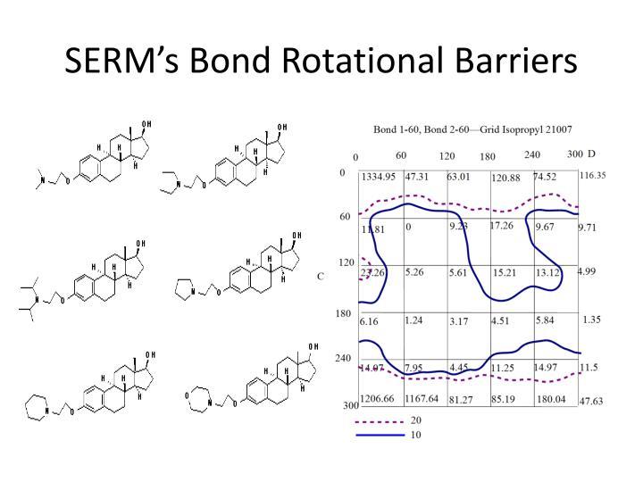 SERM's Bond Rotational Barriers