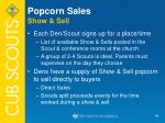 popcorn sales show sell