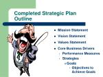 completed strategic plan outline