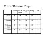 cover rotation crops