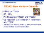 tr3002 new venture creation