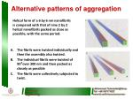 alternative patterns of aggregation