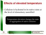 effects of elevated temperature