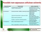 possible non aqueuous cellulose solvents