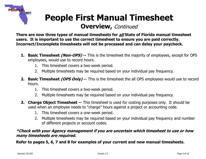 ppt people first manual timesheet training guide section 1