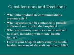 considerations and decisions6
