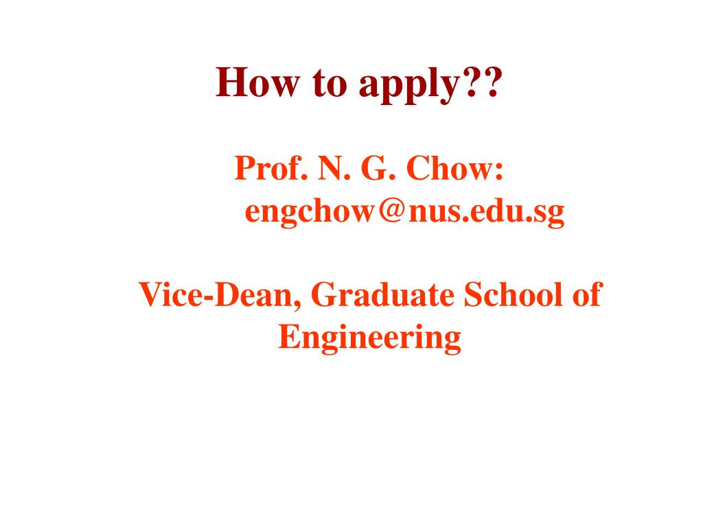 How to apply??