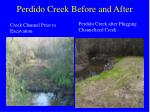 perdido creek before and after