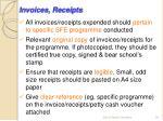 invoices receipts