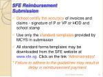 sfe reimbursement submission16