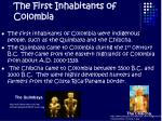 the first inhabitants of colombia