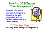 benefits of effective time management