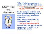 study time and homework
