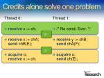 credits alone solve one problem
