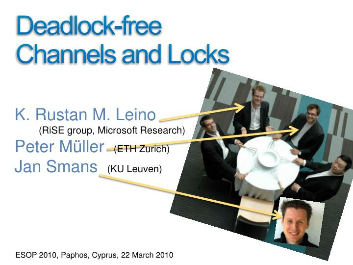 deadlock free channels and locks n.