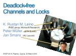 deadlock free channels and locks