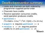 deadlock prevention summary