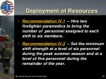 deployment of resources1
