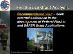 fire service grant analysis