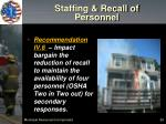 staffing recall of personnel