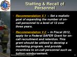 staffing recall of personnel1