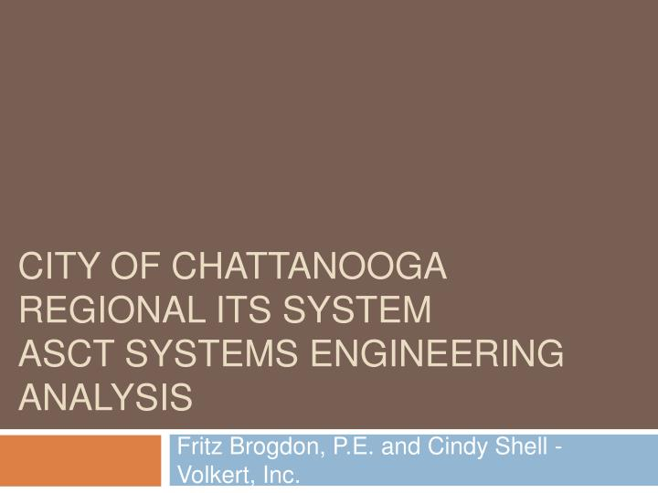 city of chattanooga regional its system asct systems engineering analysis n.