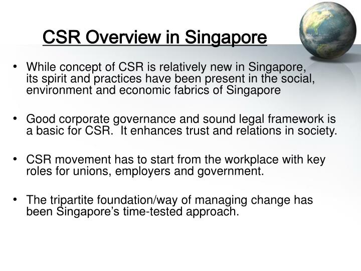 CSR Overview in Singapore