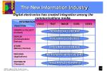 the new information industry