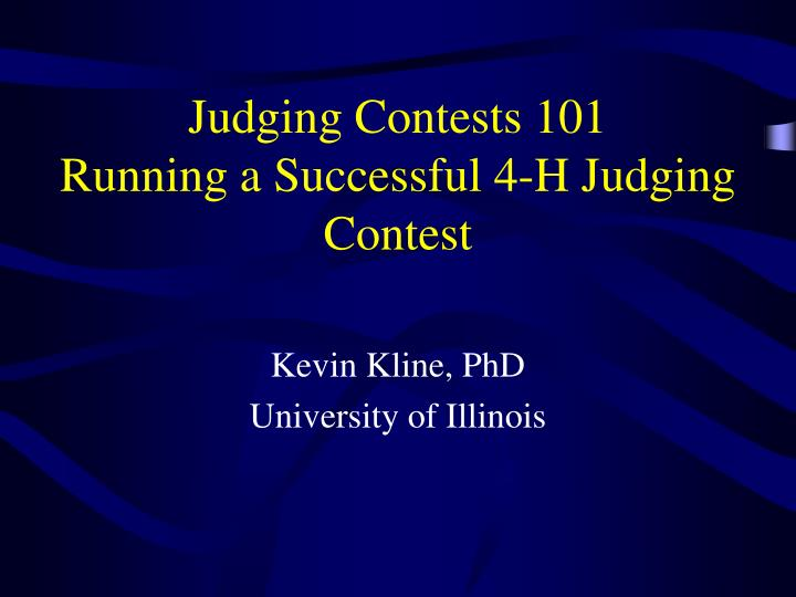 judging contests 101 running a successful 4 h judging contest n.