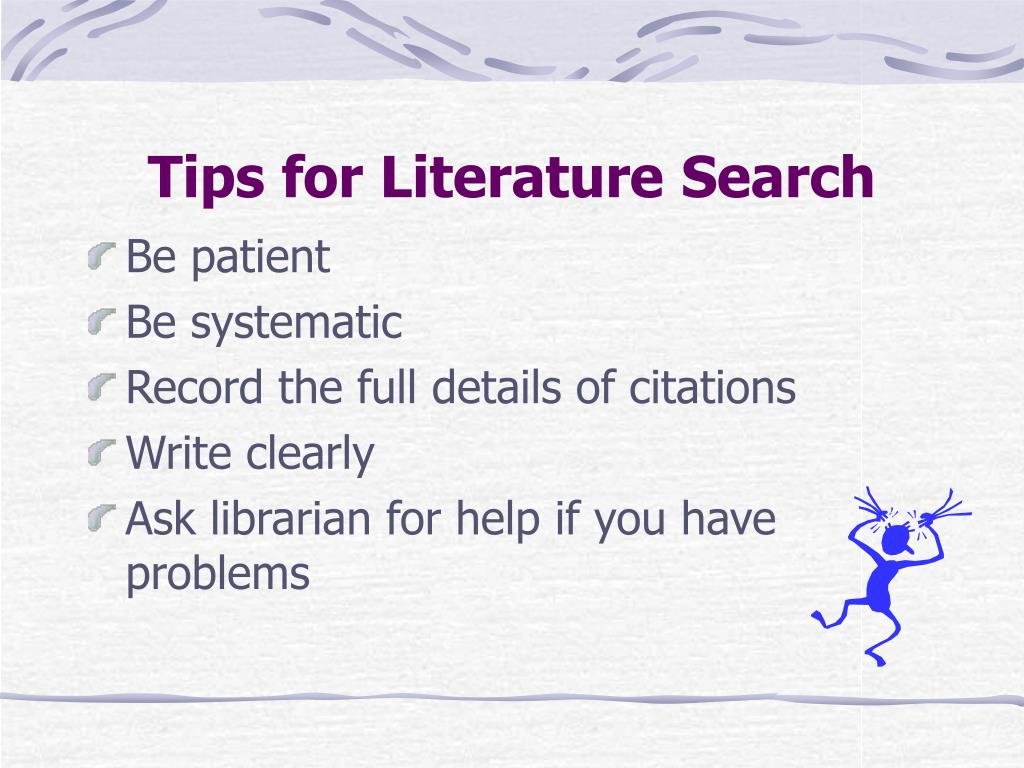 Tips for Literature Search