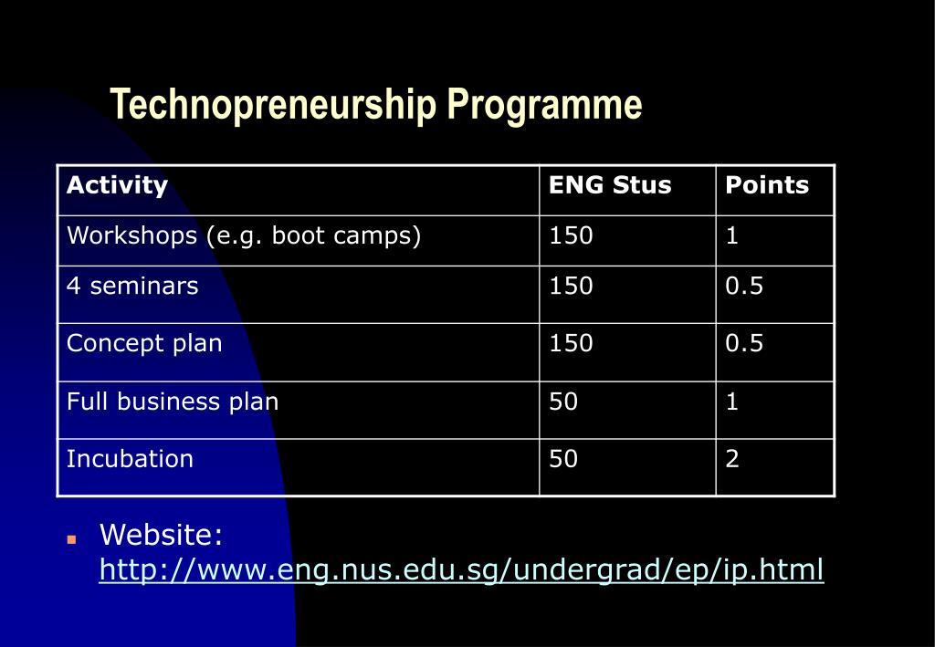 Technopreneurship Programme