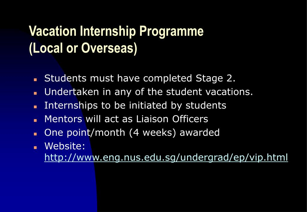 Vacation Internship Programme