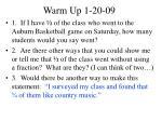 warm up 1 20 09