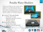 potable water bladders