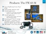 products the fw 60 m