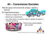 4 conexiones sociales