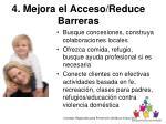 4 mejora el acceso reduce barreras